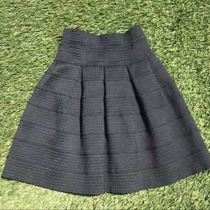 Anthropologie: Girls of Savoy Elastic black skirt
